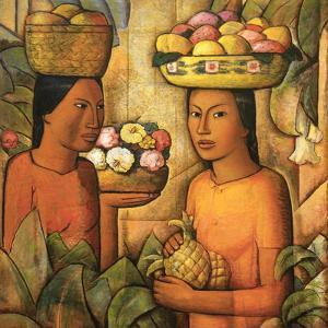 Mujeres Con Frutas by Alfredo Ramos Martinez