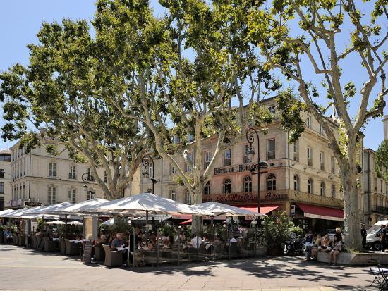Alfresco Restaurants, Place De L'Horloge, Avignon, Provence, France, Europe-Peter Richardson-Photographic Print