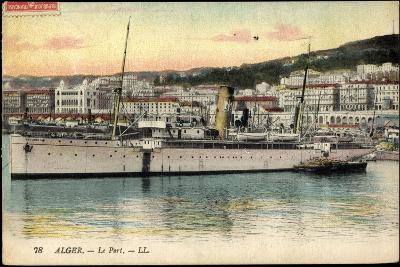 Alger Algerien, Le Port, Dampfschiff Rey Jaine II--Giclee Print