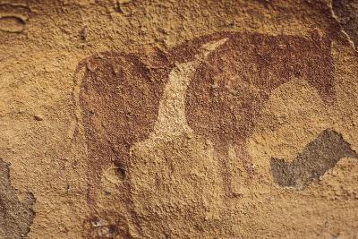 Algeria, Sahara Desert, Tassili-N-Ajjer National Park, Rock Carving Depicting Ox--Giclee Print
