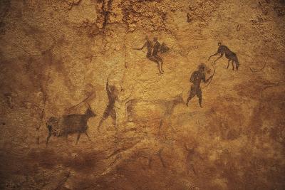 Algeria, Sahara Desert, Tassili-N-Ajjer National Park, Rock Carvings Depicting Daily Life--Giclee Print