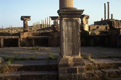 Algeria, Timgad, Roman Colonial Town Founded by Emperor Trajan around 100 A.D, Ruins--Giclee Print