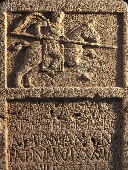 Algeria, Tipasa, Stele Depicting a Roman Knight with a Spear--Giclee Print