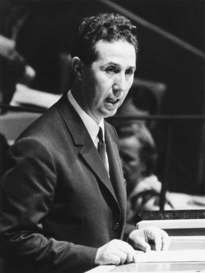 Algerian President Ahmed Ben Bella Addresses the United Nations General Assembly on Oct. 9, 1962--Photo