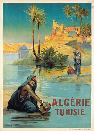 Algerie Tunisie-Louis Lessieux-Art Print