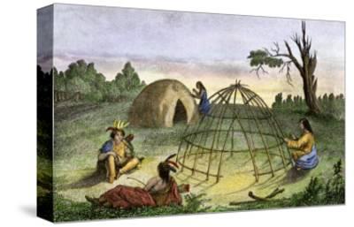 Algonquins Building a Wigwam