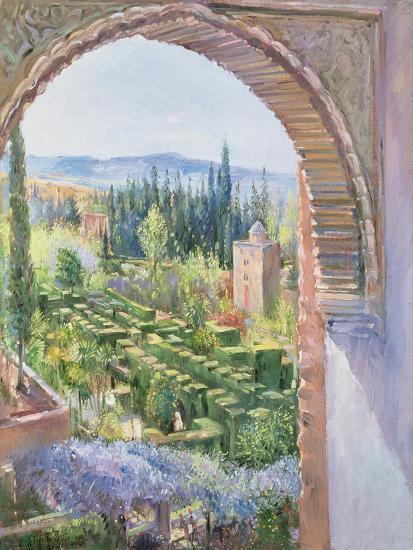 Alhambra Gardens-Timothy Easton-Giclee Print