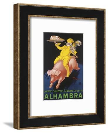 Alhambra-Henry Monnier-Framed Art Print