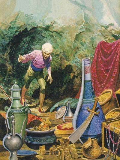 Ali Baba and the Forty Thieves-Don Lawrence-Giclee Print