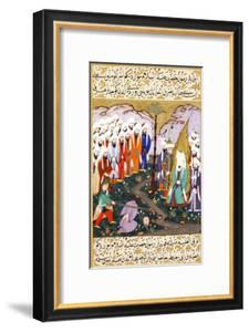 Ali Beheading Nadr Ibn Al-Harith in the Presence of the Prophet Muhammad, Ca 1594