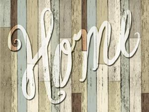 Home Wood Sign by ALI Chris