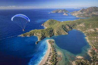 Paramotor Flying in Oludeniz, Aerial, Fethiye, Turkey