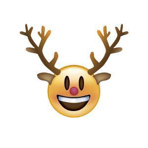 Emoji Big Smile Reindeer by Ali Lynne