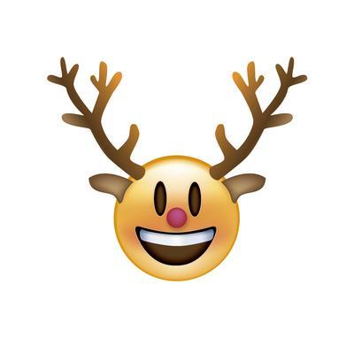 Emoji Big Smile Reindeer