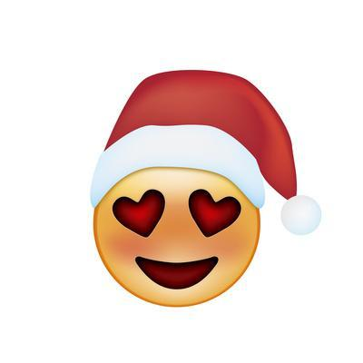 Emoji Smile Heart Xmas Hat