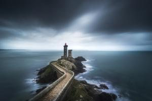 Europe, France, Plouzané - Moody Day At The Lighthouse Of The Petit Minou by Aliaume Chapelle