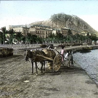 Alicante (Spain), Cistern on the Seaside and View of the Hill of Fort Santa Barbara-Leon, Levy et Fils-Photographic Print