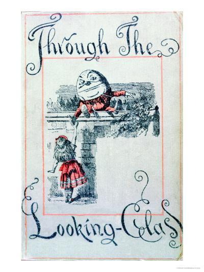 """Alice and Humpty Dumpty, Cover Illustration for """"Alice Through the Looking-Glass""""-John Tenniel-Giclee Print"""