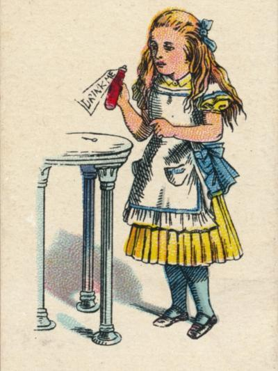 Alice and the Bottle, 1930-John Tenniel-Giclee Print
