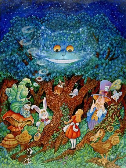 Alice and the Cheshire Cat-Bill Bell-Giclee Print