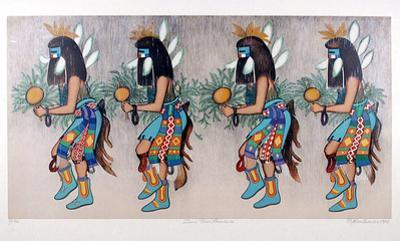 Zuni Rain Dancers by Alice Asmar