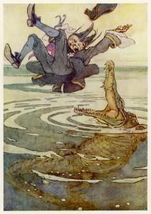 Captain Hook Falls into the Jaws of the Crocodile by Alice B. Woodward