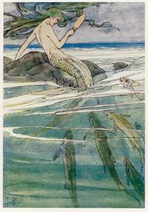 Peter Pan, Mermaid on a Rock by Alice B. Woodward