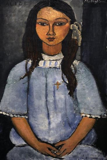 """Alice"" C.1918. National Museum of Art. Copenhagen. Denmark-Amedeo Modigliani-Giclee Print"