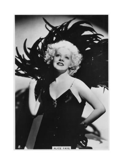 Alice Faye, American Actress and Singer, C1938--Giclee Print