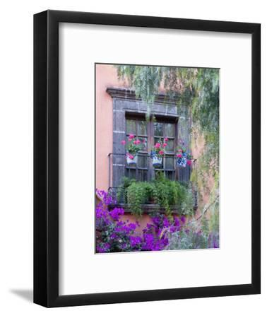 Window with Geraniums, San Miguel De Allende, Mexico