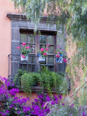 Window with Geraniums, San Miguel De Allende, Mexico