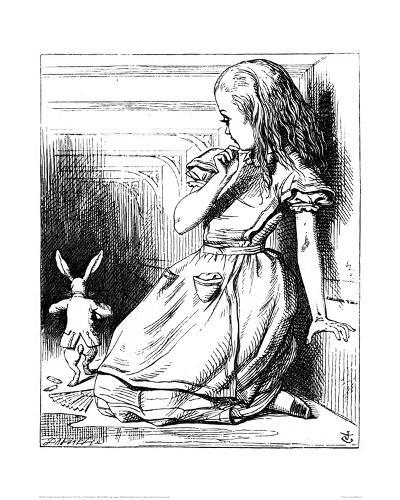 Alice Grown Tall-John Tenniel-Giclee Print