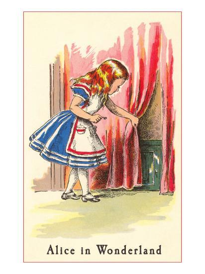 Alice in Wonderland, Alice Finds Door--Art Print
