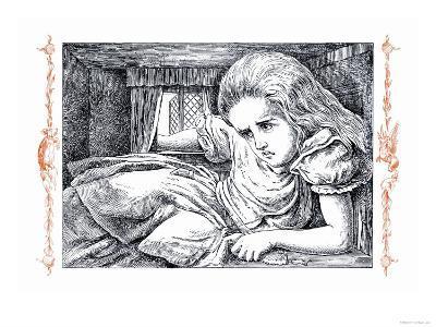 Alice in Wonderland: Alice Grows Large-John Tenniel-Art Print