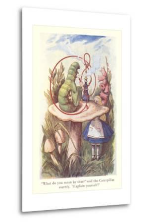 Alice in Wonderland, Caterpillar on Mushroom