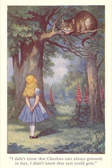 Alice In Wonderland Cheshire Cat Art Print By Artcom