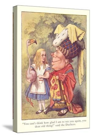 Alice in Wonderland, Duchess and Flamingo