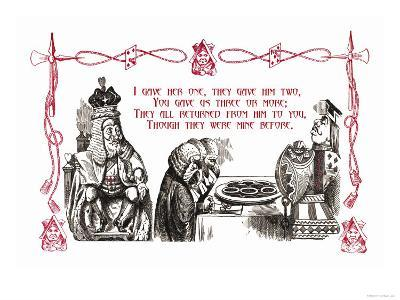 Alice in Wonderland: King and Tarts-John Tenniel-Art Print