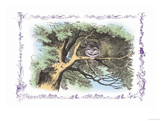 Alice in Wonderland: The Cheshire Cat-John Tenniel-Art Print