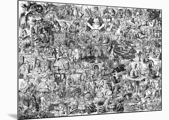 Alice in Wonderland--Mounted Print