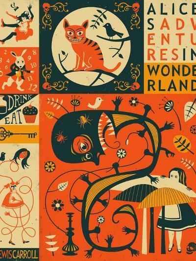Alice in Wonderland-Jazzberry Blue-Art Print