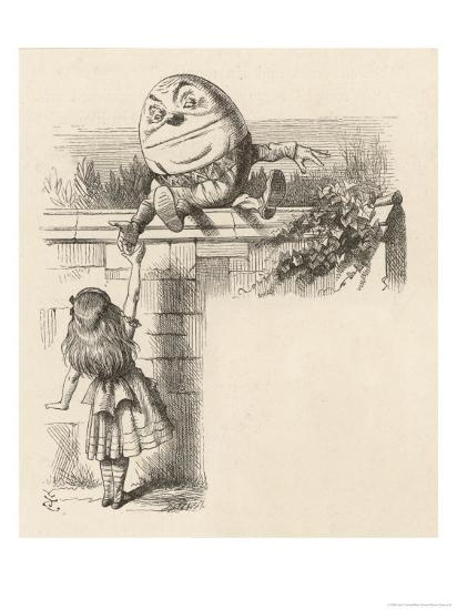 Alice Meets Humpty-Dumpty-John Tenniel-Giclee Print