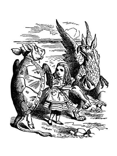 Alice's Adventure's in Wonderland-John Tenniel-Premium Giclee Print