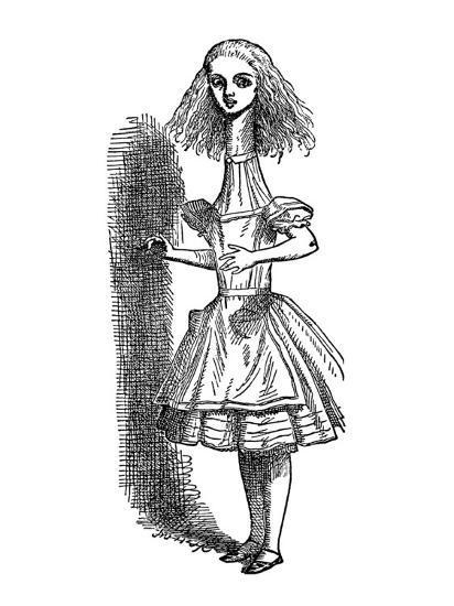 Alice's Adventure's in Wonderland-John Tenniel-Premium Giclee Print