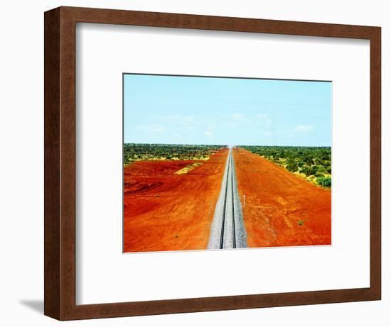Alice Springs to Darwin Railway Line-John Banagan-Framed Photographic Print