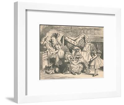 'Alice, the Duchess, and the Baby', 1889-John Tenniel-Framed Giclee Print