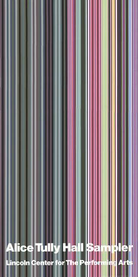 Alice Tully Hall Sampler-Gene Davis-Serigraph