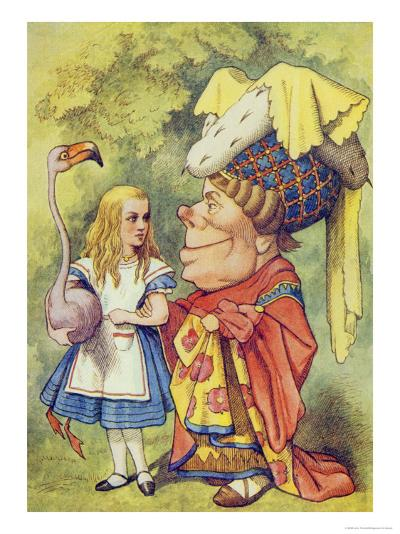 Alice with the Duchess, Illustration from Alice in Wonderland by Lewis Carroll-John Tenniel-Giclee Print