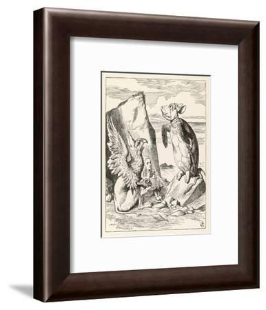 Alice with the Mock Turtle and the Gryphon--Framed Giclee Print