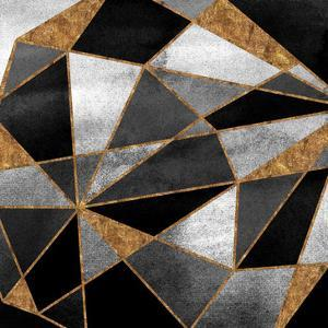 Black Geo Abstract by Alicia Vidal